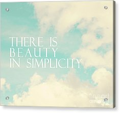 Acrylic Print featuring the photograph Beauty In Simplicity by Sylvia Cook