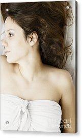 Beauty In White Acrylic Print by Margie Hurwich