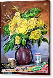 Beauty In Yellow Acrylic Print by M Bhatt