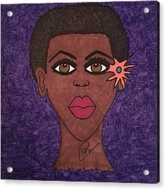 Acrylic Print featuring the drawing Beauty Is In The Eyes by Chrissy  Pena