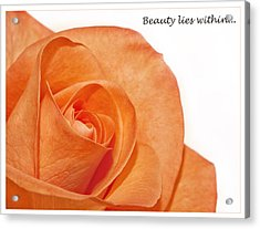 Acrylic Print featuring the photograph Beauty Lies Within... by Kim Andelkovic