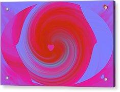 Acrylic Print featuring the digital art Beauty Marks by Catherine Lott