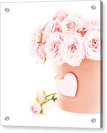 Beauty Pink Roses Acrylic Print by Boon Mee