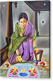 Beauty Revealed- A 5000 Year Old Artistic Heritage Acrylic Print by Ragunath Venkatraman