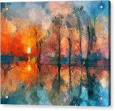 Beauty Sunset Acrylic Print by Yury Malkov