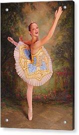 Beauty The Ballerina Acrylic Print by ARTography by Pamela Smale Williams