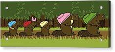 Beaver Family Walk Acrylic Print