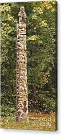 Beaver Totem Acrylic Print by Joseph Vittek
