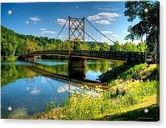 Beaver Town Bridge Acrylic Print by Jerry Williamson