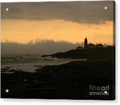 Beavertail-after The Storm Acrylic Print by Butch Lombardi