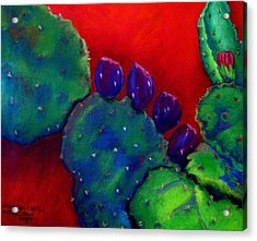 Beavertail Cactus  Pastel Acrylic Print by Antonia Citrino
