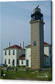 Beavertail Light And Museum Acrylic Print by Anna Lisa Yoder