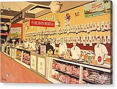 Beavis Meat In The Public Market Acrylic Print by Paul Guyer