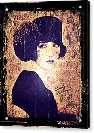 Bebe Daniels - 1920s Actress Acrylic Print by Absinthe Art By Michelle LeAnn Scott