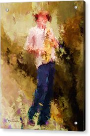 Bebop Sax Man Acrylic Print