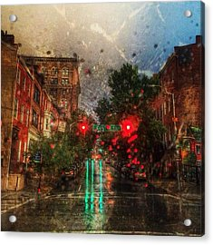 Because Of The Rain Acrylic Print