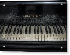 Bechstein Keys Acrylic Print by Nathan Wright