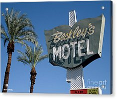 Beckley's Motel Cathedral City Acrylic Print