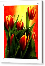 Becky Tulips Art2 Jgibney The Museum Gifts Acrylic Print by The MUSEUM Artist Series jGibney