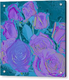 Bed Of Roses II Acrylic Print by Shirley Moravec