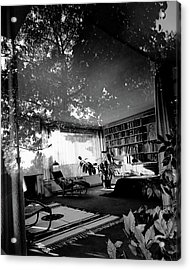 Bedroom Seen Through Glass From The Outside Acrylic Print