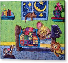 Bedtime Mouse Acrylic Print by Megan Walsh
