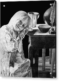 Acrylic Print featuring the drawing Bedtime by Sophia Schmierer