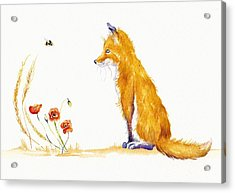 Bee A Summer Fox Acrylic Print