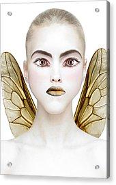 Bee Acrylic Print by Yosi Cupano