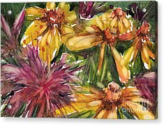 Beebalm And Heliopsis Acrylic Print