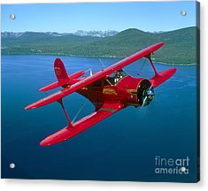 Beechcraft Model 17 Staggerwing Flying Acrylic Print