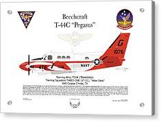 Beechcraft T-44c Pegasus Acrylic Print by Arthur Eggers