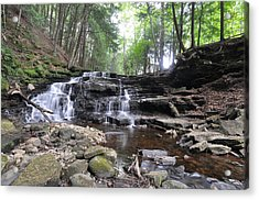 Beecher Creek Falls Edinburg Ny Acrylic Print