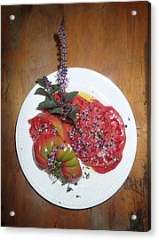 Acrylic Print featuring the photograph Beefsteak by Robert Nickologianis