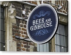 Beer And Ginhouse Acrylic Print by David Freuthal