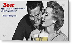 Beer Acrylic Print by Bill Cannon