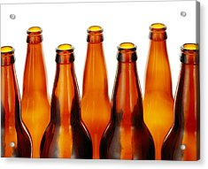 Beer Bottles Acrylic Print by Jim Hughes