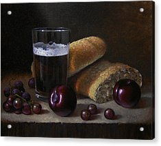 Beer Bread And Fruit Acrylic Print by Timothy Jones