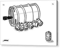 Beer Cans Nursing At A Keg Acrylic Print