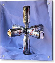 Beer Cans Space Station Acrylic Print by Viktor Savchenko