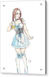 Beer Girl Acrylic Print