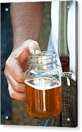 Acrylic Print featuring the photograph Beer He Drank by Gwyn Newcombe