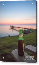 Beer In The Sunset In Obx Acrylic Print