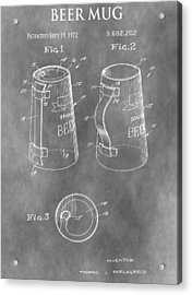 Beer Mug Patent Acrylic Print