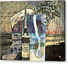 Acrylic Print featuring the mixed media Beer On Tap by Ally  White