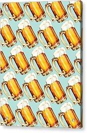 Beer Pattern Acrylic Print by Kelly Gilleran