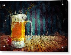 Beer Time Acrylic Print by Adam Vance