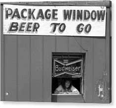 Beer To Go In Black And White Acrylic Print