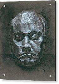 Beethoven Death Mask Acrylic Print by Claudia Kilby
