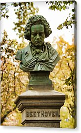 Beethoven In Central Park Acrylic Print by Alice Gipson